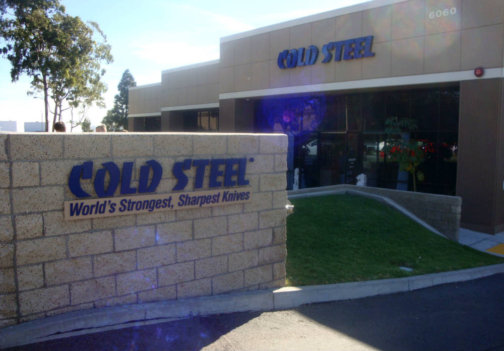 cold steel headquarters sign