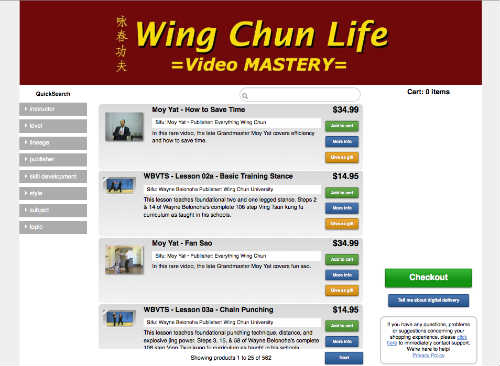 wing chun dvd downloads