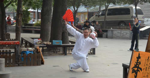 Tai chi fan form
