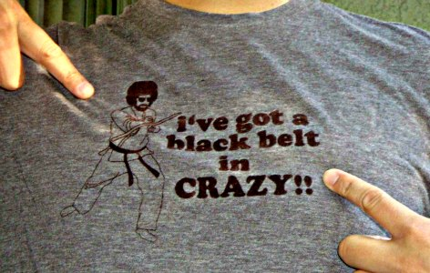 Crazy Martial Art T-shirt - Wing Chun Kung Fu Fan