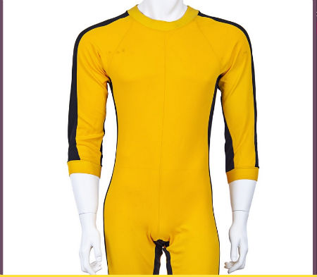 authentic Bruce Lee yellow jump suit for auction